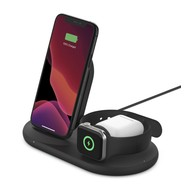 Belkin Boost Charge 3-in-1 Wireless Pad/Stand for iPhone/Apple Watch/Airpods - Black