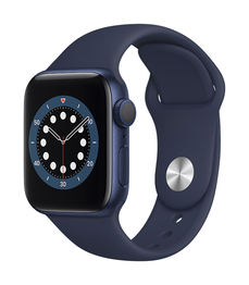 Apple Watch Series 6 GPS  40mm Blue Aluminium Case with Deep Navy Sport Band - Regular