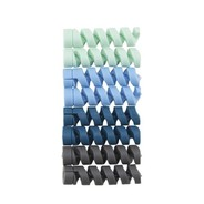 BlueLounge CableCoil Mini Ombre Blue 8-pack
