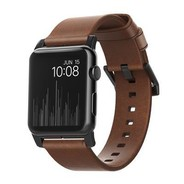Nomad Strap Modern leather strap for Apple Watch 42/44mm - Brown w/Black