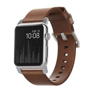 Nomad Strap Modern leather strap for Apple Watch 42/44mm - Brown w/Silver