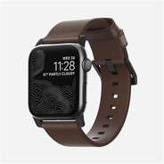 Nomad Strap Modern leather strap for Apple Watch 38/40mm - Brown w/Black