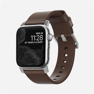 Nomad Strap Modern leather strap for Apple Watch 38/40mm - Brown w/Silver