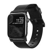 Nomad Strap Modern leather strap for Apple Watch 42/44mm - Black w/Black