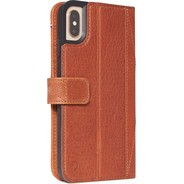 Decoded Leather Impact Protection Wallet voor iPhone XS Max - Cinnamon Brown