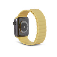 Decoded Silicon Magnetic Traction Strap for Apple Watch 42/44mm - Powder Yellow