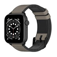 Switch Easy Leather Series for Apple Watch 40/42/45mm - Stone Grey