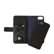 Decoded iPhone 7/8/SE2020 Leather 2-in-1 Wallet Case w/ Back Cover - Black