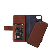 Decoded iPhone 7/8/SE2020 Leather 2-in-1 Wallet Case w/ Back Cover - Brown