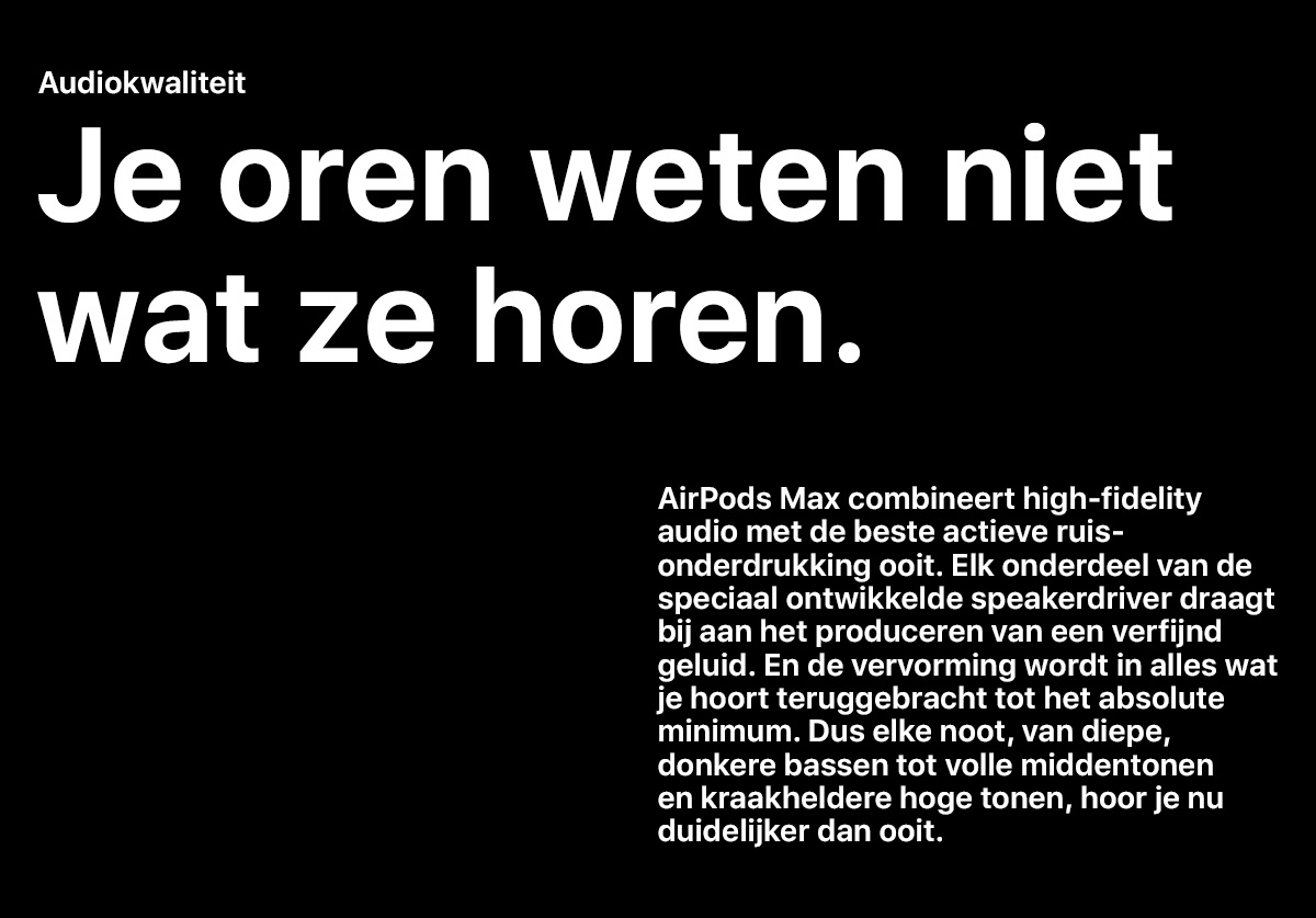 AirPods Max - Audiokwaliteit